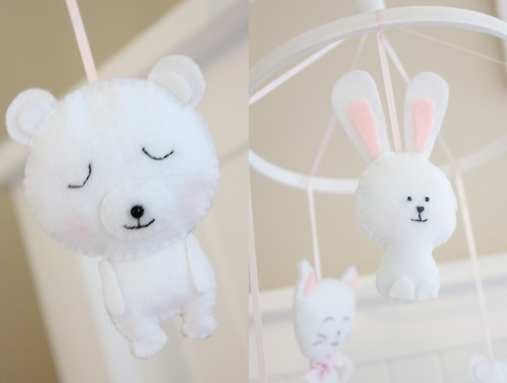 bear, bunny nursery mobile